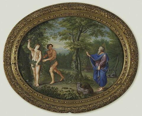 Dieu apparait à Adam et à Eve après le péché