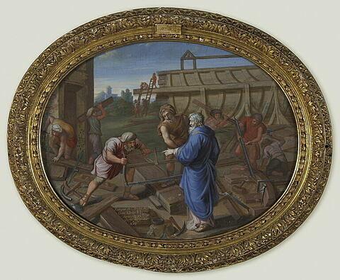 Noë construit l'arche