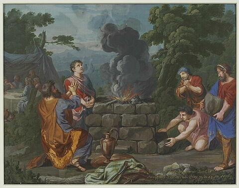 Jacob dresse un autel et sacrifie à Dieu
