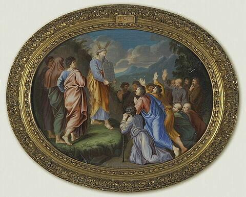 Moïse montre au peuple les Tables de la Loi