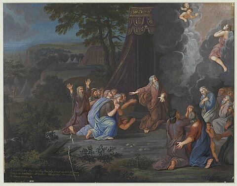 Assemblée des anciens du peuple pour aider Moïse
