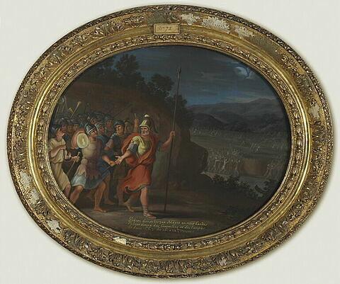 Gédéon divise les trois cents soldats en trois bandes