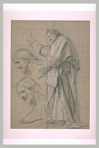 Le Christ prêchant ; reprises du visage du Christ