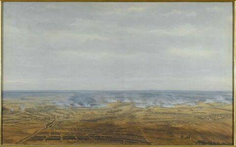 Le combat de Wachau, près Leipsig ; première journée, 16 octobre 1813