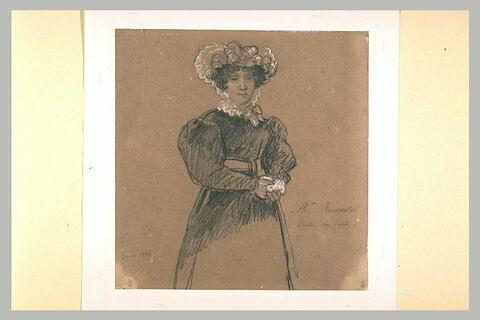 Portrait de madame Jaquotot, peintre sur émail, vue de face