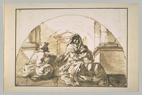 Sainte Famille : copie d'après 'La Madonna del Sacco' d'Andrea del Sarto
