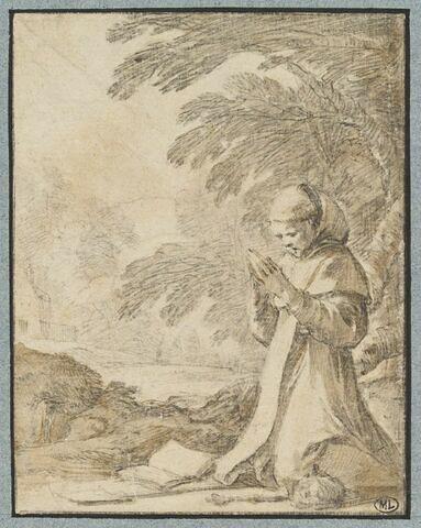 Saint Fiacre méditant