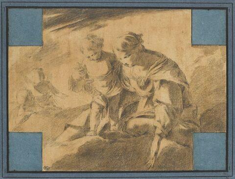 Apparition de la Vierge à l'Enfant dans le ciel