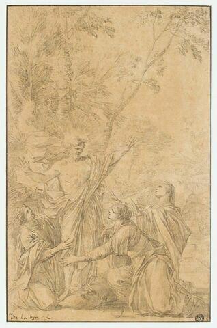 La Christ apparaissant aux trois Marie agenouillées
