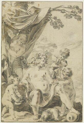 Bacchus, Ariane et quatre putti