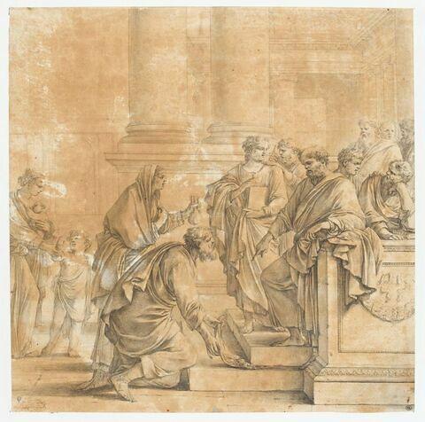 Le lévite Barnabas rapporte aux apôtres le prix de la terre qu'il a vendue