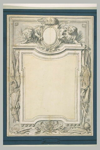 Projet de frontispice à la gloire d'Eugène de Savoie