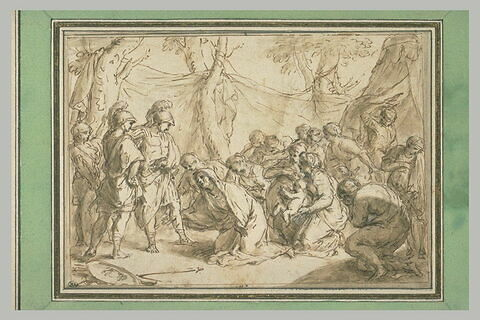 La magnanimité d'Alexandre le Grand envers la mère et les femmes de Darius