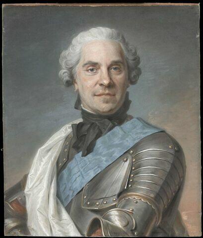 Portrait de Hermann Maurice de Saxe ( 1696-1750), maréchal de France.