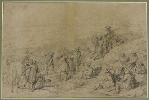 Louis XIV dans la tranchée au siège de Tournai
