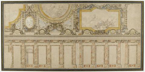 Projet pour une partie de la voûte de la Grande Galerie de Versailles