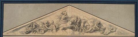 Fronton avec le char d'Apollon