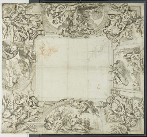 Projet pour un plafond de forme carrée