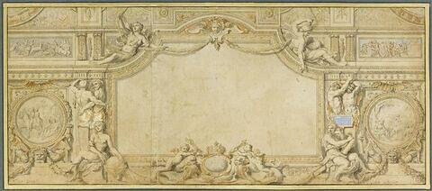 Projet de plafond. Etude pour la galerie d'Apollon au Louvre
