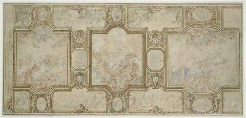 Projet pour la voûte de la Grande Galerie du château de Versailles