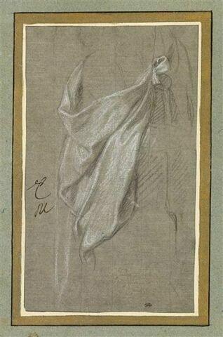 Draperie pour une figure debout, vue de trois quarts