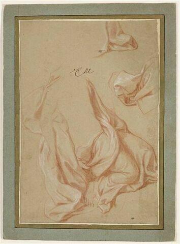 Draperie pour une figure aux genoux fléchis