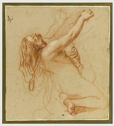 Femme nue, renversée en arrière