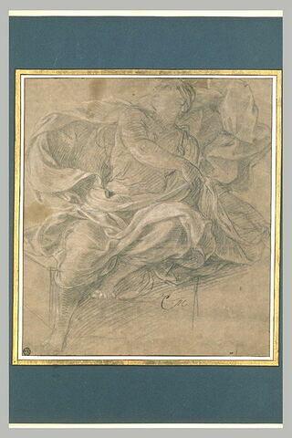 Femme drapée assise : l'Aurore