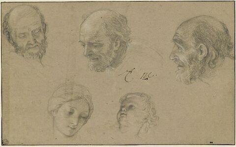 Cinq études de têtes