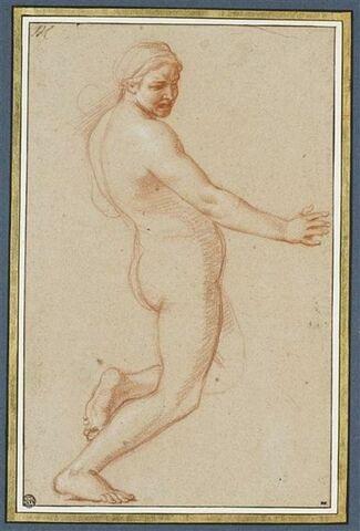 Femme nue, debout, de profil