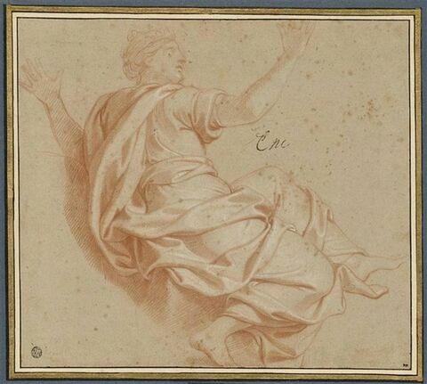 Femme drapée et couronnée