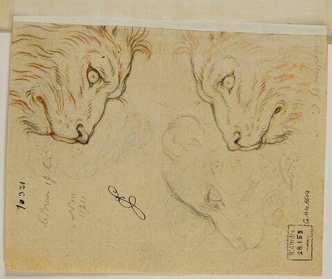 Trois têtes de lion