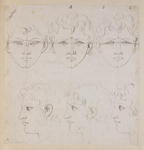 Six têtes de Marc Aurèle jeune