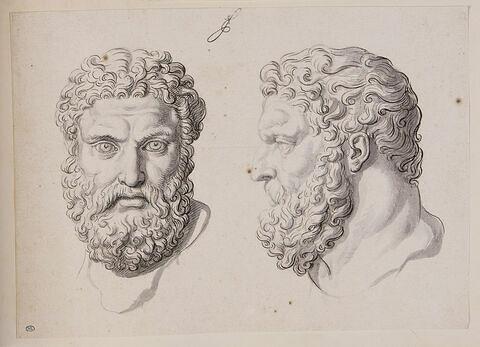 Deux têtes d'Hercule