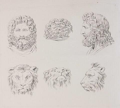 Têtes de Jupiter et têtes de lionnes