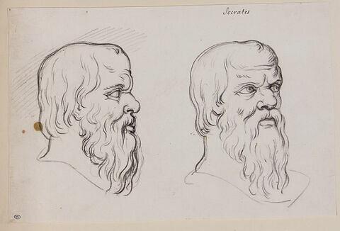 Deux têtes de Socrate