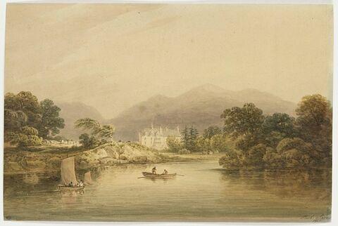 Demeure de M. Herbert, vue du lac inférieur de Killarney