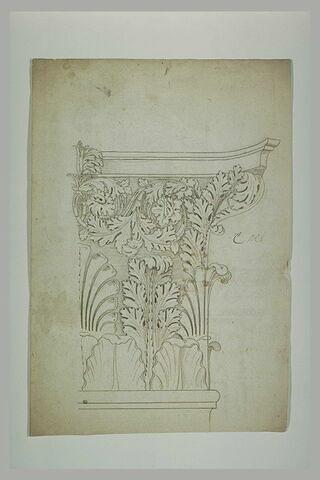 Détail d'un chapiteau à feuilles d'acanthe