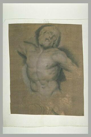 Demi-figure d'homme nu, souffrant