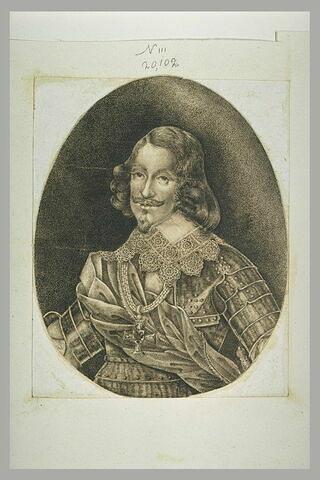 Portrait d'un guerrier, portant une décoration aux armes d'Autriche