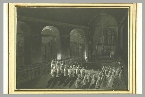 Scène d'absoute nocturne
