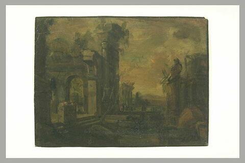 Vue des ruines d'un palais