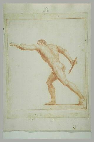 Athlète nu, étude d'après une statue antique