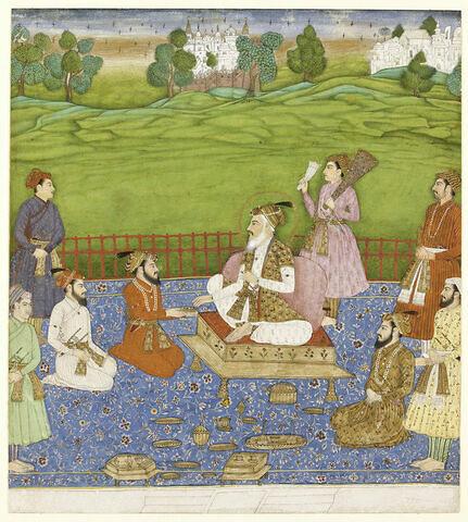 L'empereur Shah Jahan, ses quatre fils et quatre courtisans