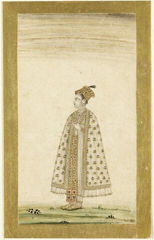 Dame moghole en turban et en manteau