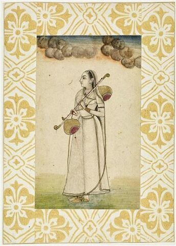 Jeune musicienne indienne