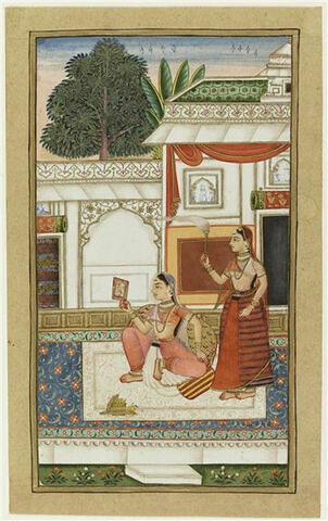 Dame indienne et sa servante