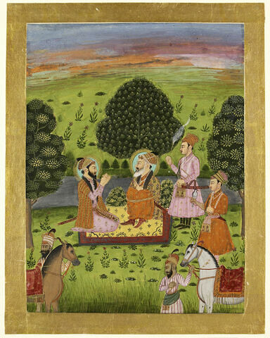 Entrevue de l'empereur Shah Jahan avec son fils Dara Shikoh