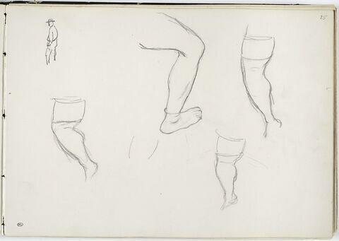 Jambes d'homme, études pour 'les Baigneurs'