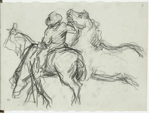 Gardian guidant un cheval